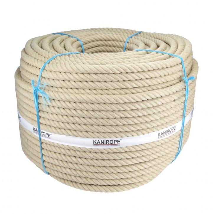 Cordage en chanvre HEMPTWIST ø16mm 4 torons de Kanirope®
