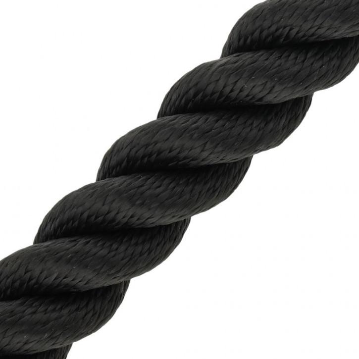 Main courante MULTITWIST ø28mm Marchandise au mètre (mètre par pièce) noir de Kanirope®